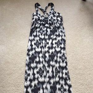 Aztec printed maxi dress